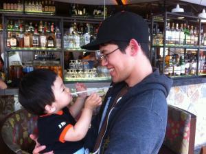 Ben and his nephew Kenta.