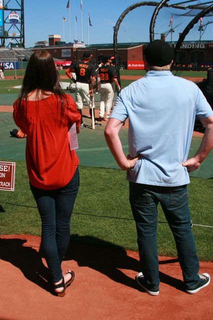 @Veronica and @WillieDills gazing upon Hunter Pence after an epic gaming conversation with him.