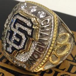 Treat of the day: we all got to hold the precioussss, Bochy's shiny new World Series ring.