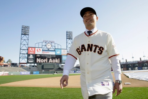 Nori Aoki of the San Francisco Giants. TortureCast.com