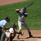 A sequence of a Derek Jeter swing when the Yankees visited the Giants on June 24, 2007. Photos by Chad King