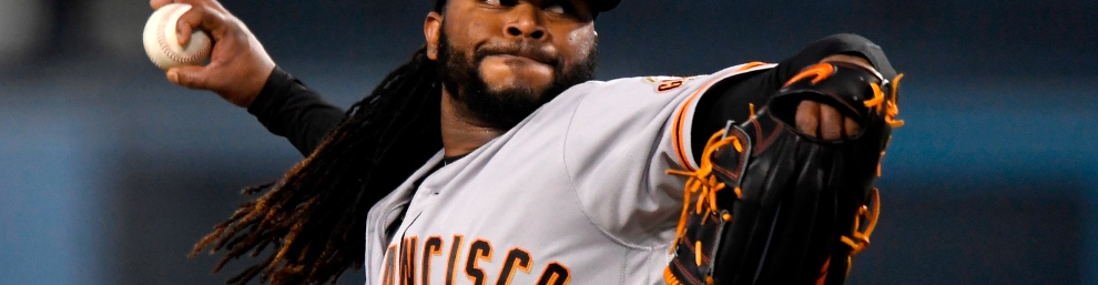 Johnny Cueto of the San Francisco Giants