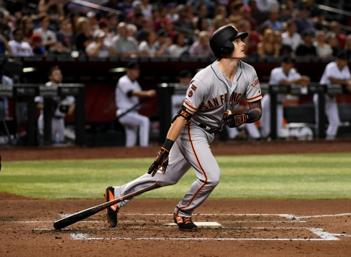 Mike Yastrzemski of the San Francisco Giants